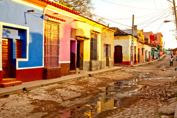 Colorful traditional houses in the colonial town of Trinidad, Cuba