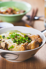 stewed chicken noodle ,thai food