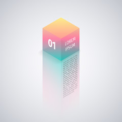 Isometric Cube Abstract Background