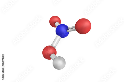3d Structure Of Nitric Acid A Highly Corrosive Mineral Acid And