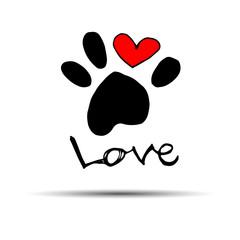 dog footprint print paw foot shape illustration