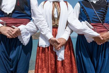 Cretan dancers Wall mural
