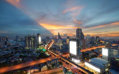 Sathorn Intersection, Downtown Bangkok, Thailand