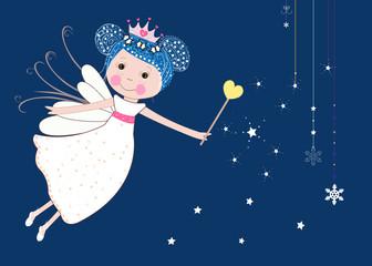 Cute snow fairy