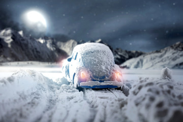winter car and snow