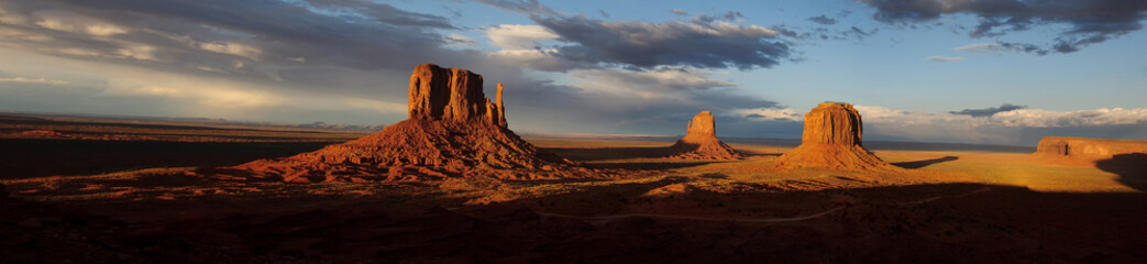Wall Murals Pale violet Monument Valley