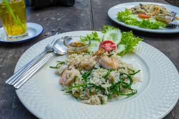Thai food fried rice on plate