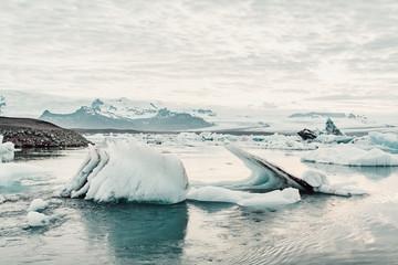 Icebergs on sea