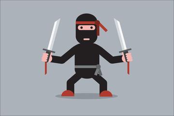 Ninja cartoon character