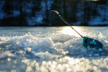 Winter fishing.