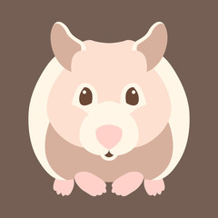 hamster style vector illustration Flat