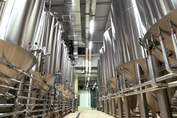 Big brewery full of special equipment