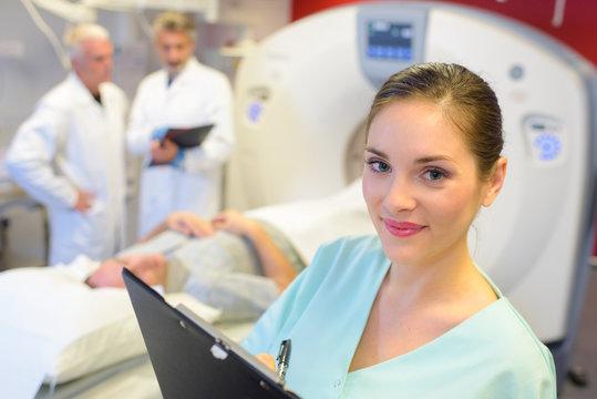 Portrait of nurse in radiology department
