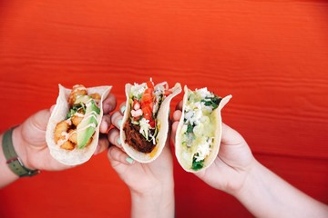 Assortment of tacos