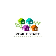 Real Estate Logo Design. House Logo Design. Creative Real Estate Vector Icons