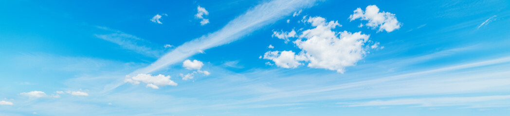 small clouds and blue sky