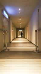Abstract empty hallway