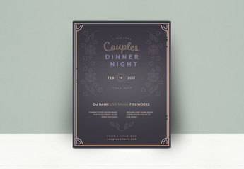 Couples Dinner Night Poster - Dark