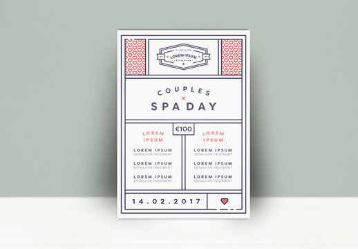 Couples Spa Day Flyer Layout