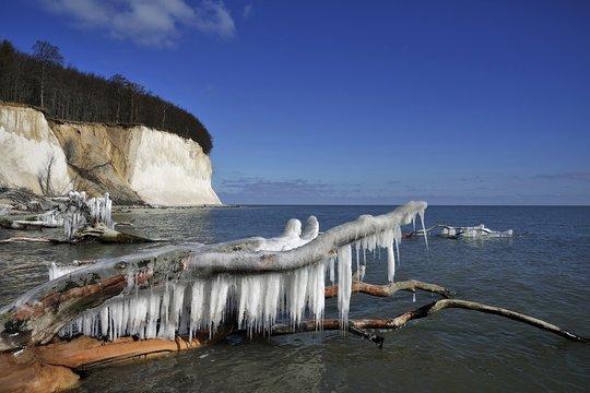 Kreideküste im Winter