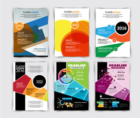 Vector design for cover business brochure