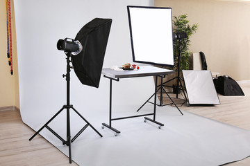 Food shooting in professional photo studio