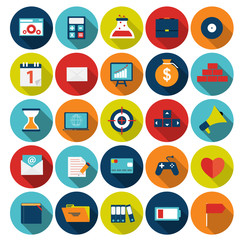 Mega Set of Flat Icons Vector Illustration.
