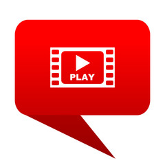 Play video red bubble icon