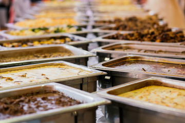 catering wedding buffet food