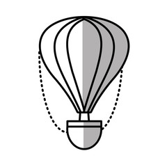 airballoon recreation vacation travel line shadow vector illustration eps 10