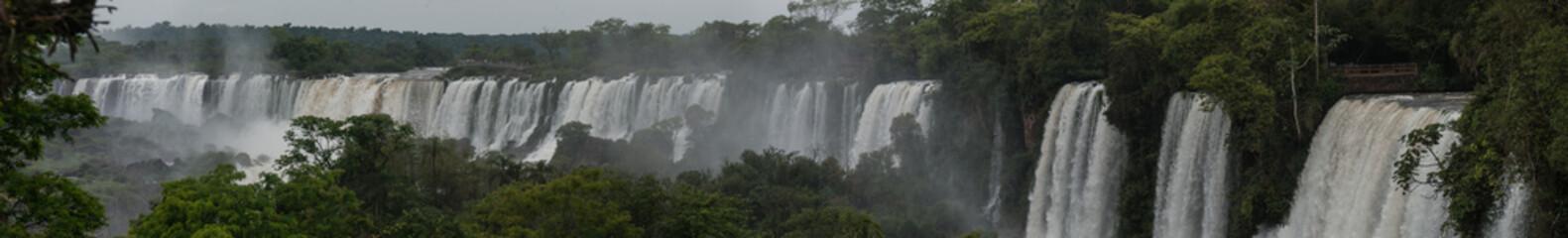 Upper Circuit Panorama, Iguazu Falls, Argentina