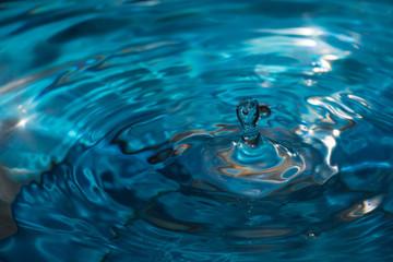splash of water drop macro