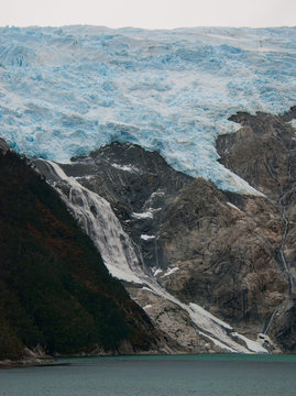 Beagle Channel shoreline glacier
