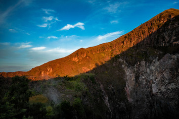 big mountain volcano at sunrise (Bali)