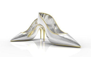 Kobiece buty na obcasach