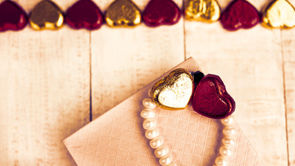 Vintage of Valentine's day background