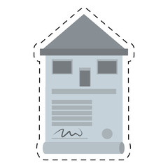 real estate contract buy house cut line vector illustration eps 10