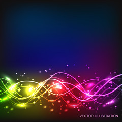 Abstract waves background. Vector illustration