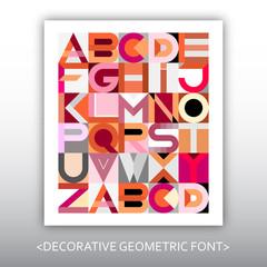 Decorative Geometric Vector Font