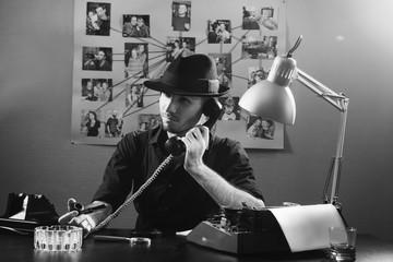 Retro detective agent 1950s style.