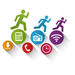 wearable technology fitness technology app media vector illustration eps 10