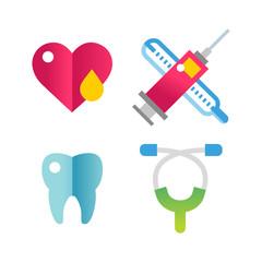 Medicine vector icons set.