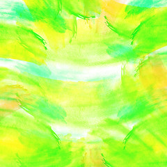 Card, card abstract natural vision paints, ink, watercolor. Drawn green, yellow, blue. For decoration and design. Splash, bright streaks of paint. Bright stylish design.
