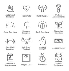 Healthy Lifestyle - Workout Icons - Outline Series
