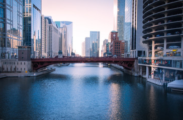 The Dearborn Bridge or The Dearborn Street is the river walk pla Wall mural