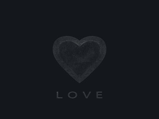 Heart on a black background