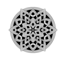 Beautiful mandala flower pattern. creative ornament, repeat, art, background can be use as a color printing for children to draw and play with colours , Background,