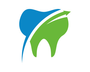 tooth blue green icon