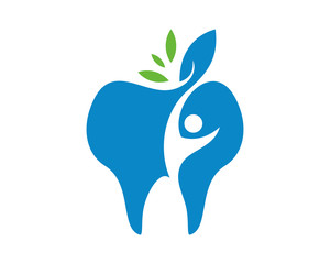 blue tooth dental icon