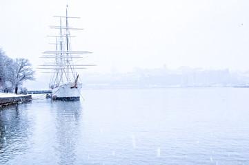 Stockholm en hiver, Suède